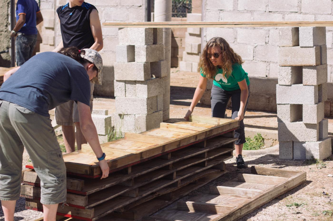 Rebekah and Mackenzie working together.