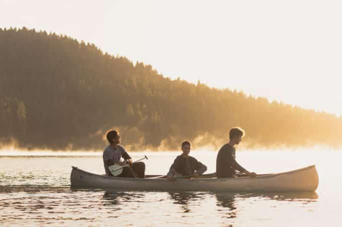 weimar academy students canoe